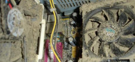 Show how the Heatsink can get blocked